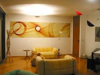 objeto decorativo quadro para sala de estar