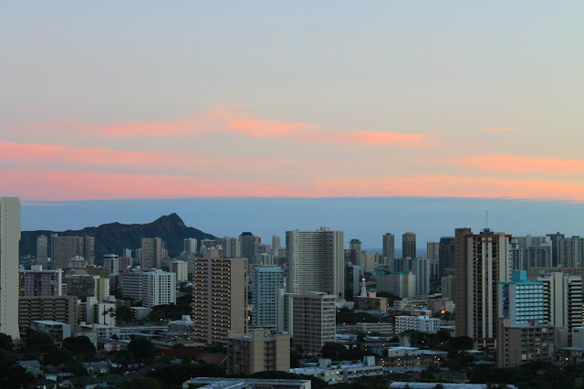 Sunset in Honolulu, Hawaii