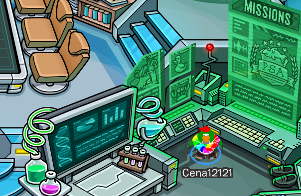 how to play misson 9 club penguin