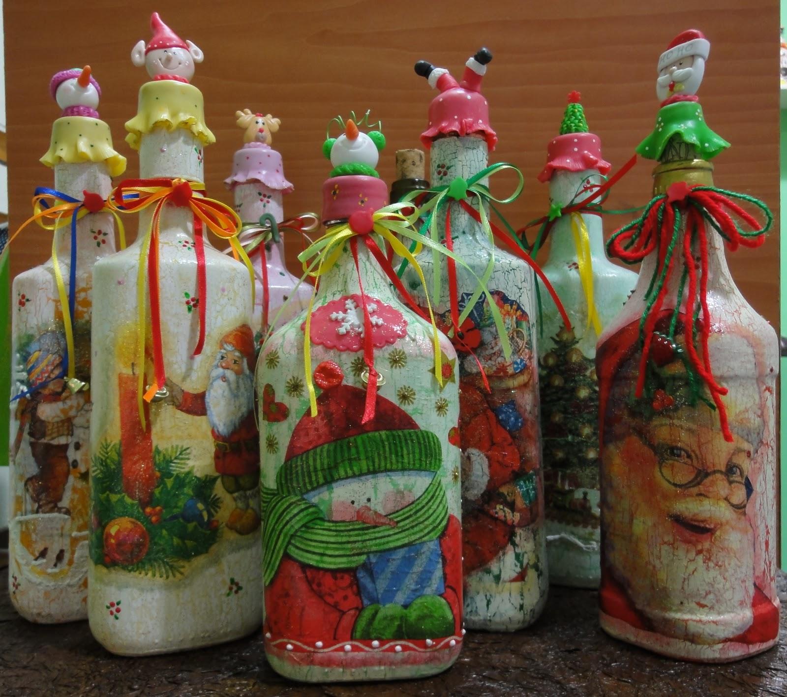Botellas decoradas baby shower imagui - Decoracion navidena para la mesa ...