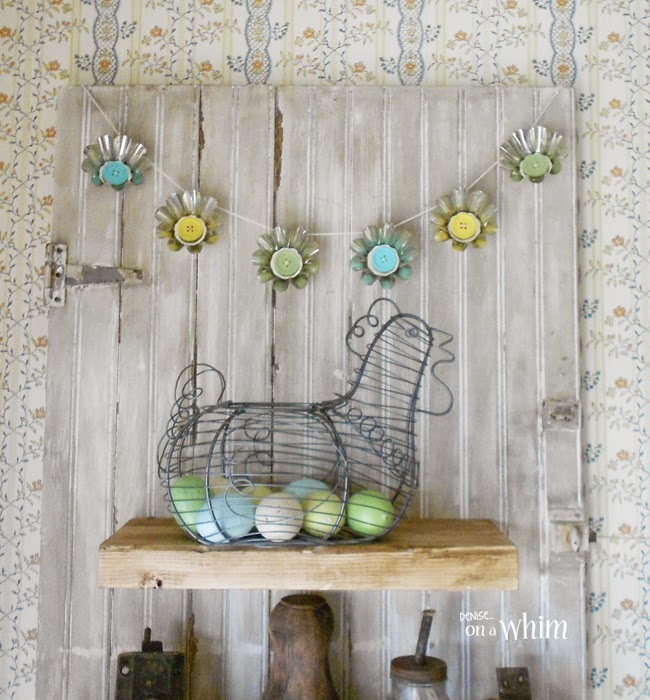 Spring Garland DIY with Jello Molds from Denise on a Whim
