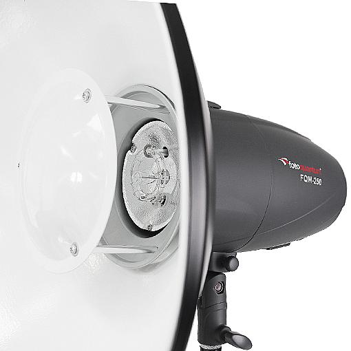FotoQuantum Flash Kit FQM-250 Plus (montaggio Bowens) con Stativo 2.5m + Beauty Dish 42cm