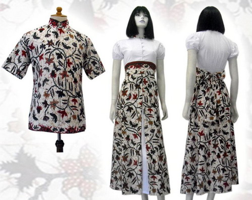 Dress Batik Solo Terbaru Motif Indah 2014 Model Baju