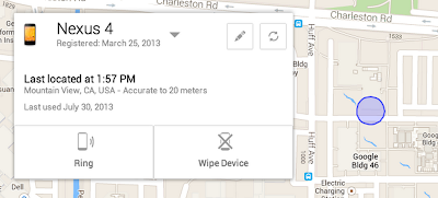 Android device manager to find lost android mobile