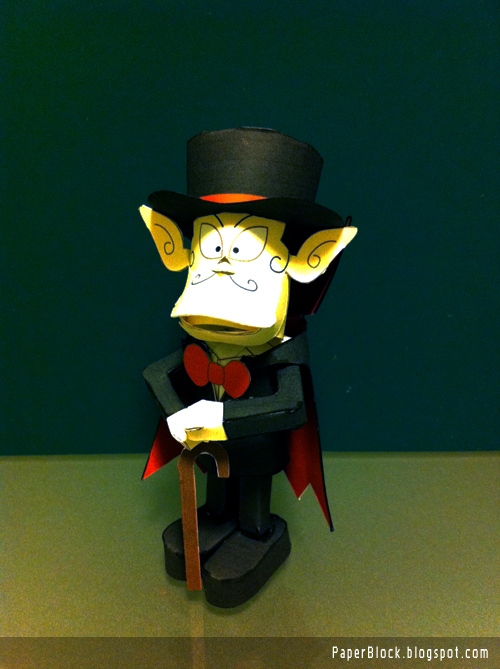 Kaibutsukun Dracula Paper Toy