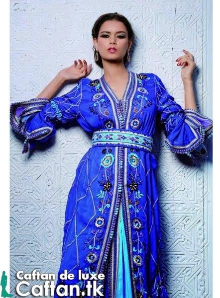Caftan haute couture bleu d'été 2014