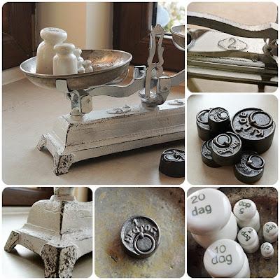 waga szalkowa stara,blog o majsterkowaniu DIY czyli zrób to sam,krok po kroku jak przemalować wagę szalkową,porcelanowe odważniki
