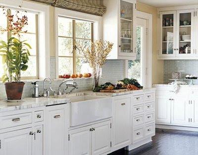 Kellys Country Kitchen on Whitehaven  White Kitchens White Curtains