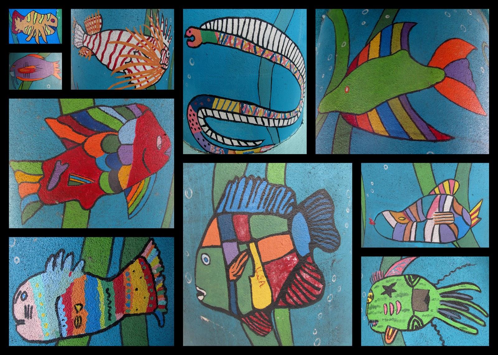 Kids Painted Fish www.rainbowswit...