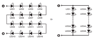 wiring diagram for led xmas lights wiring image 16 led 46 led circuit combination schematic diagram wiring diagram on wiring diagram for led xmas