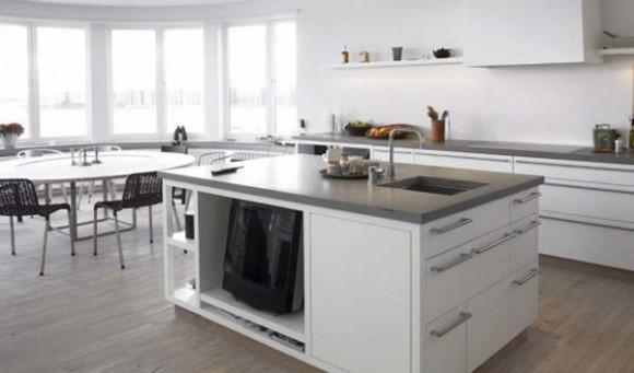 Diseño de Cocina de color Blanco con un toque Escandinavo  Cómo Diseñar Cocinas ...