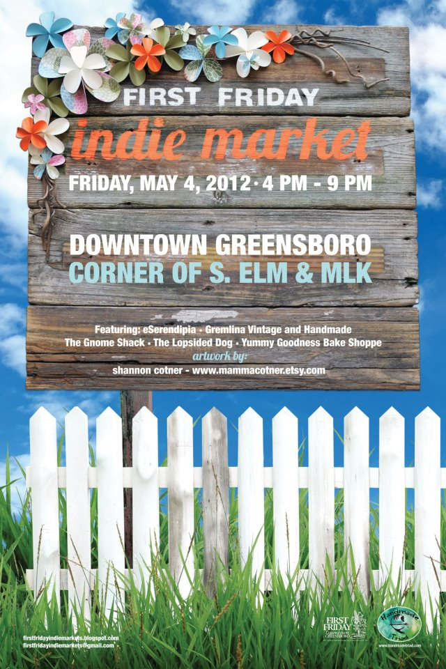 First Friday NC May Poster