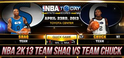 NBA 2K13 Team Shaq vs Team Chuck
