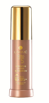 Lakmé 9to5 Hydrating Super Sunscreen for normal to dry skin with SPF 50