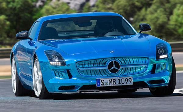 Mercedes-Benz Electric Blue SLS AMG Coupé Electric Hypercar