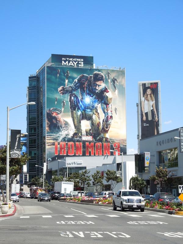 Giant Iron Man 3 billboard