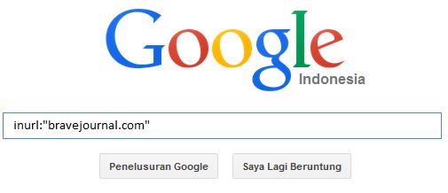 melakukan pencarian di Google dengan menggunakan inurl