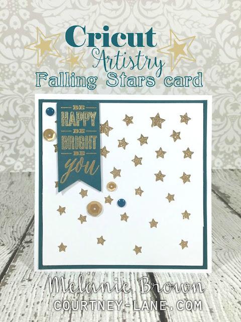 Cricut Artistry Falling Stars card