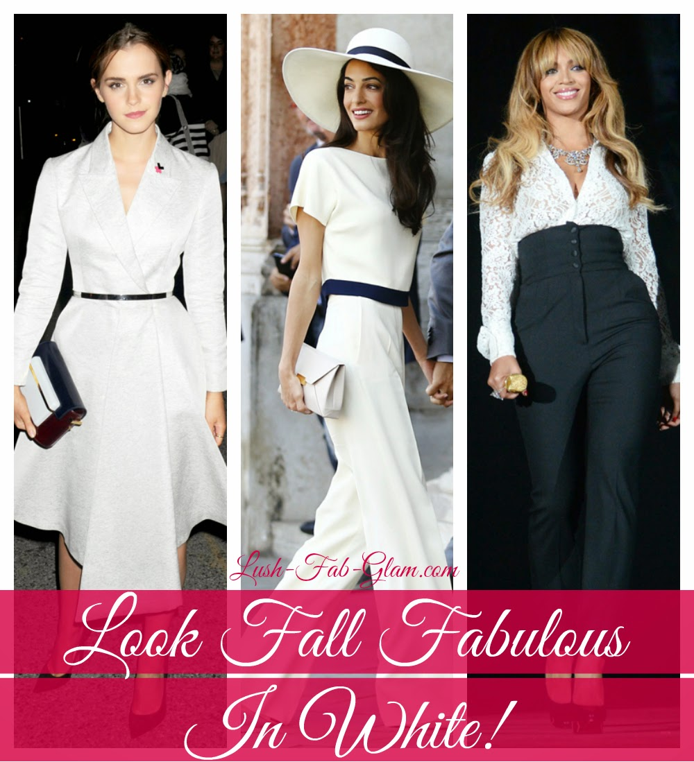 Defy those fashion myths and look fabulous in white this fall!