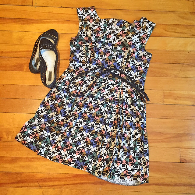 ModCloth dress, fit and flare, printed