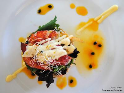 repas de mariage salade homard