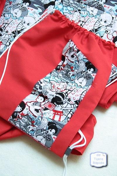 bolsa tela estampado comic manga