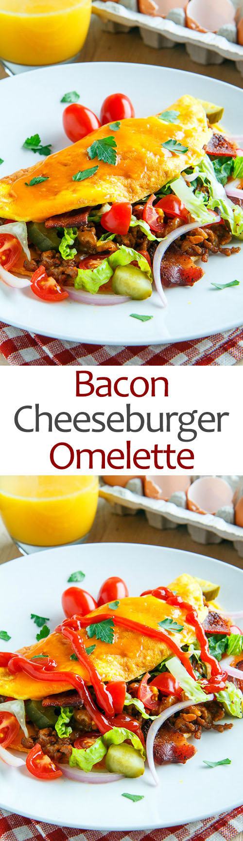 Bacon Cheeseburger Omelette