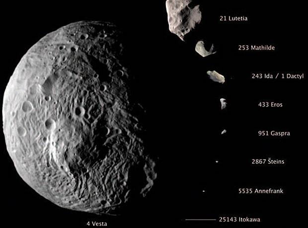 Vesta é um dos maiores objetos do Cinturão de Asteroides