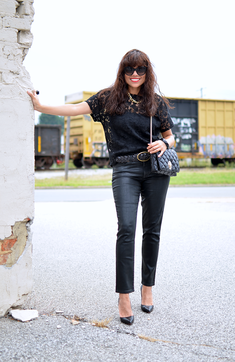 All black outfit street style