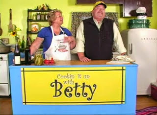 KLUK TV owner Cousin John reluctantly agrees to appear on Cooking it up with Betty