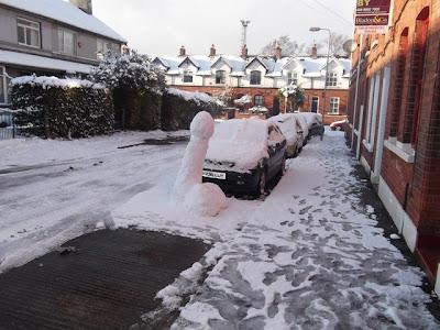 Un muñeco de nieve...