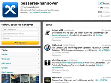 twitter censura Besseres Hannover