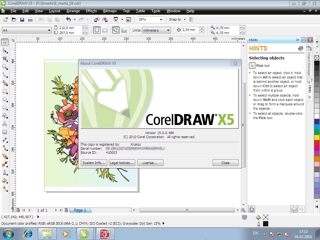 Freies Descargar Corel Draw X5 frei Geben Sie