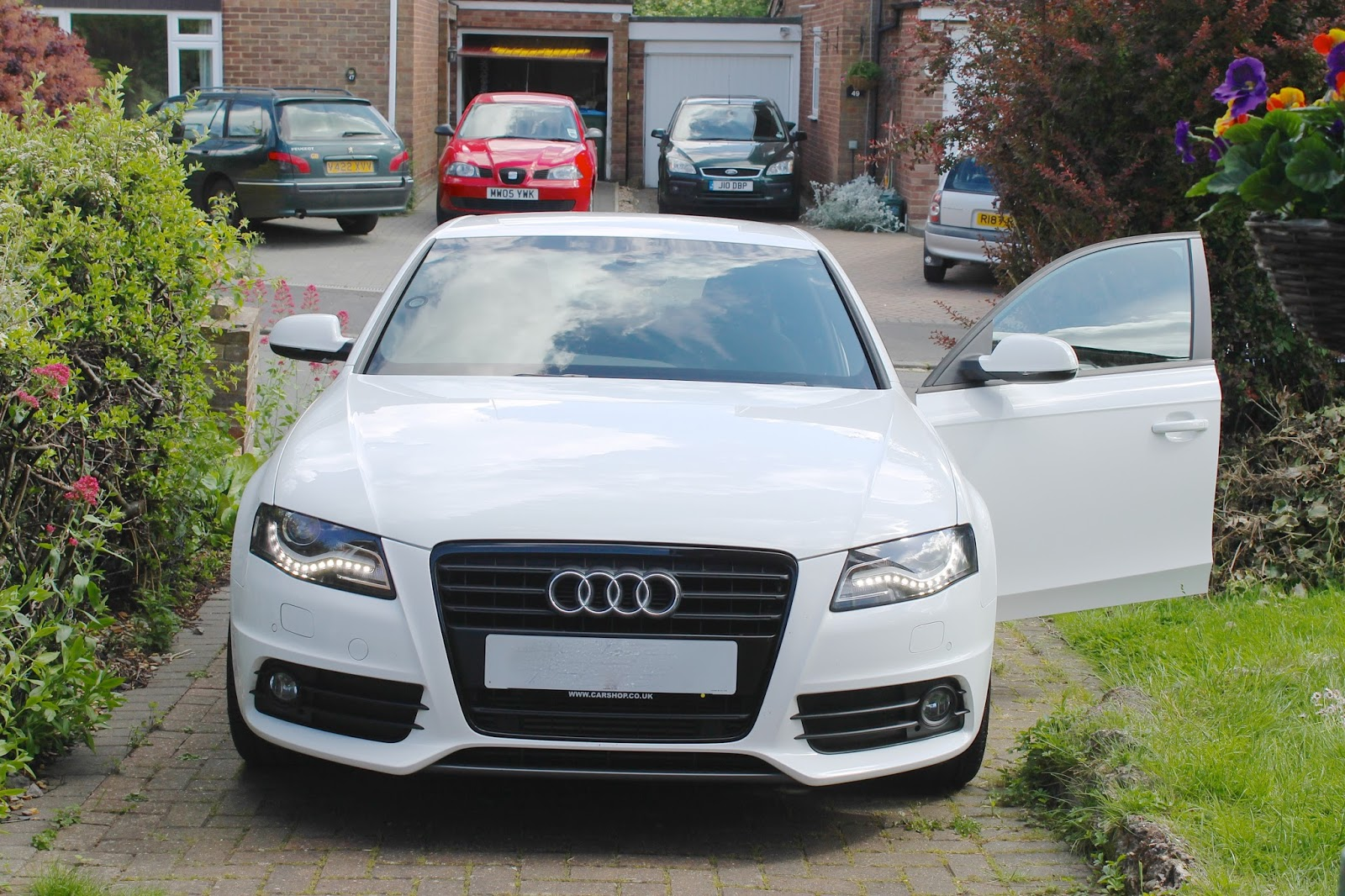 audi, audi a4, audi a4 white black edition