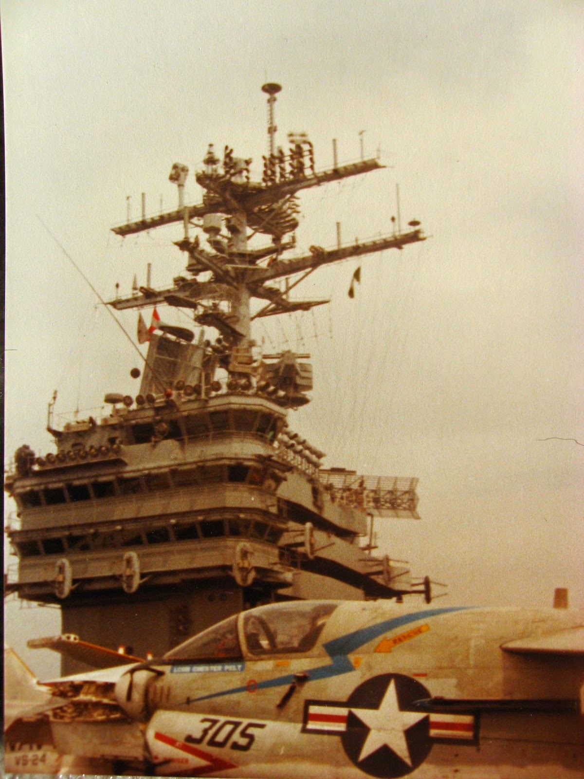 My pic of the USS NIMITZ Island January 1983