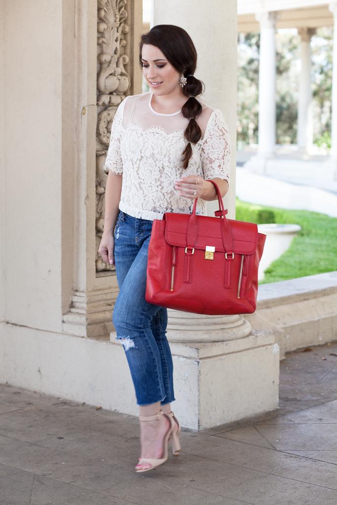 lace topshop top, summer outfit ideas, 3.1 phillip lim pashli
