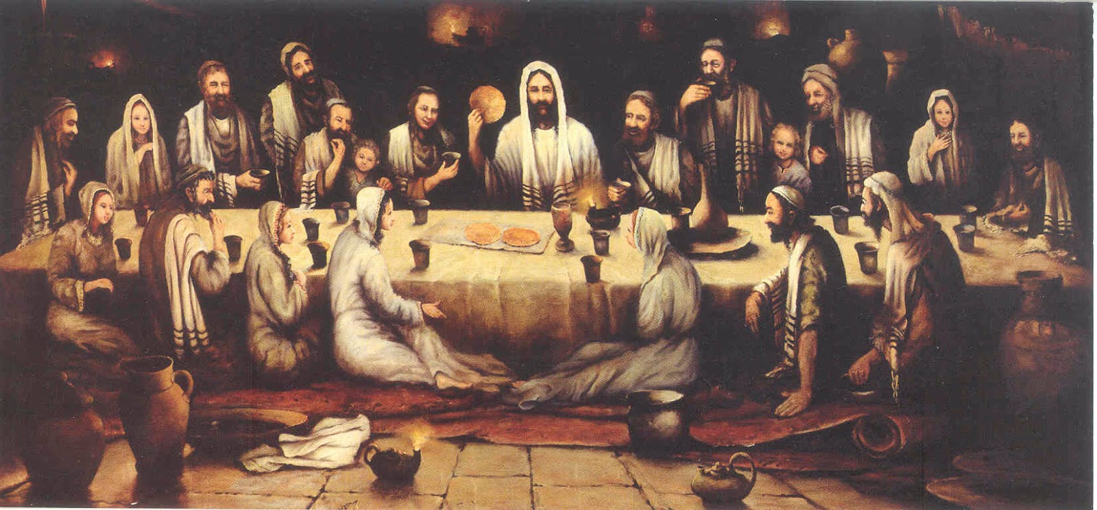 Last Supper painting by Bohdan Piasecki