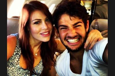 Alexandre Rodrigues da Silva Pato and Barbara Berlusconi on Twitter