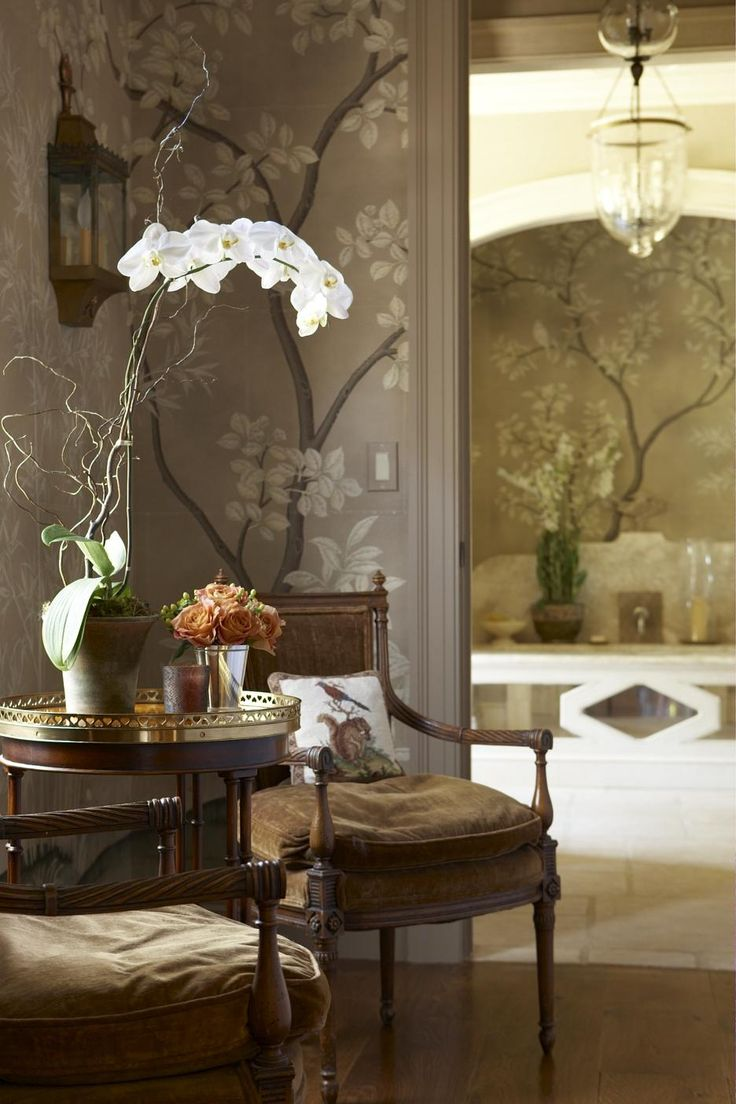 Chinoiserie chic gray chinoiserie wallpaper for Chinoiserie design