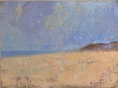 Impressionist oil landscape study by artist Steve Allrich.