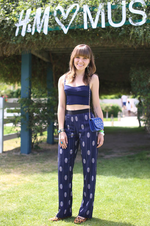 Sophia Bush Looked Classy And Beautiful At Coachella This Navy Outfit