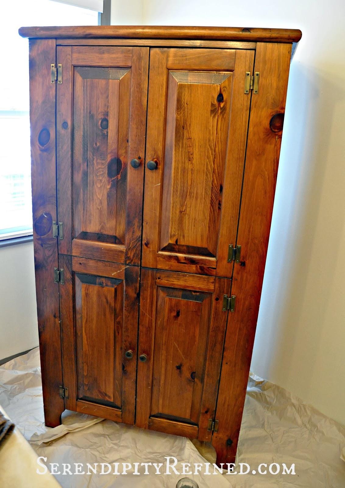 Serendipity Refined Blog Milk Painted Rustic Farmhouse Linen Cabinet Tutorial