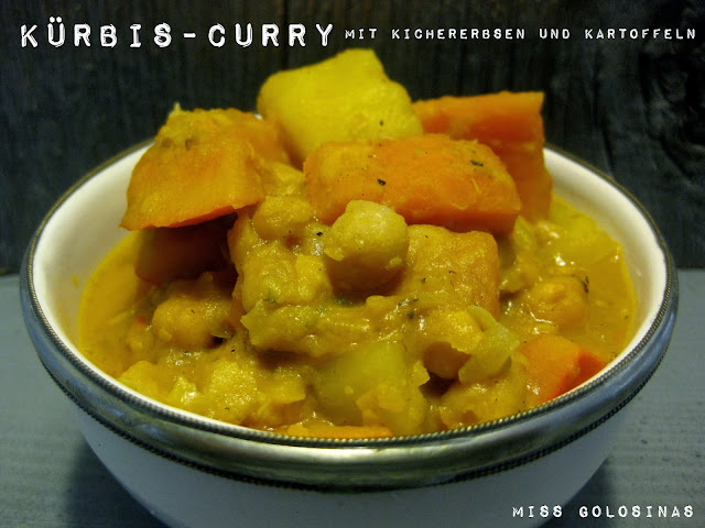 Pumpkin and Chickpeas Curry , vegan, vegetarisch, indisch