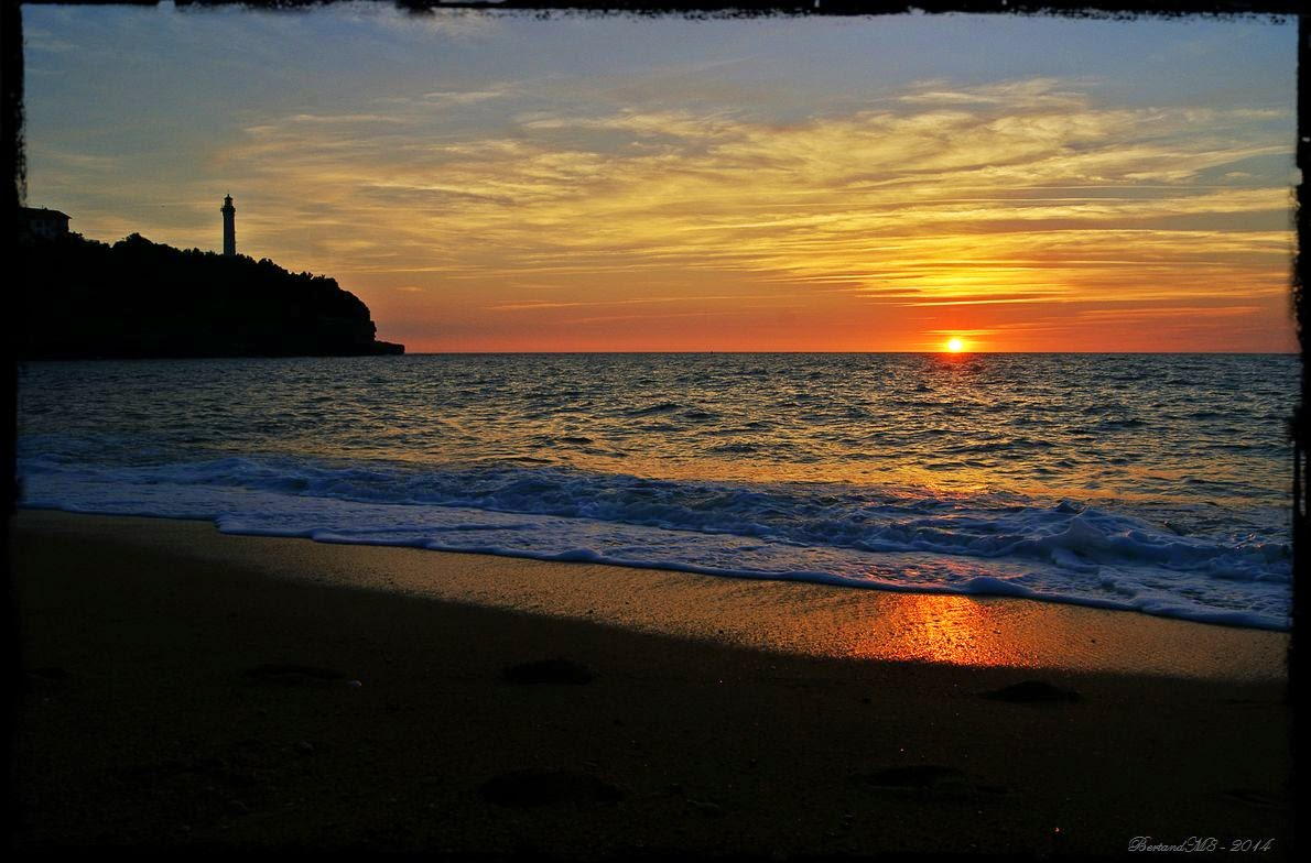My dreams gift from france sunset at chambre d 39 amour for Anglet chambre d amour