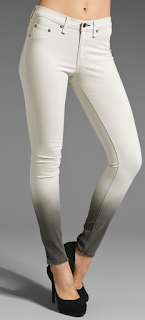 Rag & Bone Legging Winter White Ombre jean