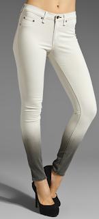 Rag & Bone Legging Winter White Ombre jean
