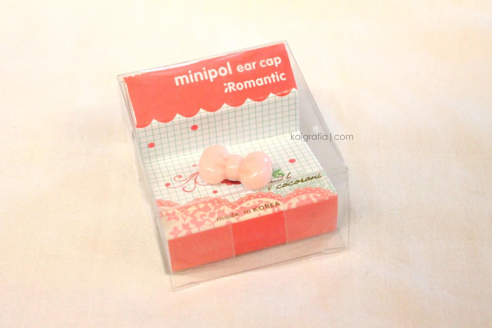Pink Bow Minipol Earcap