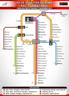 Peta Rute Perjalanan KRL Jabodetabek