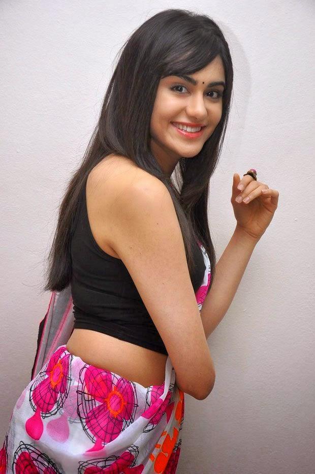 adah sharma hot saree photo