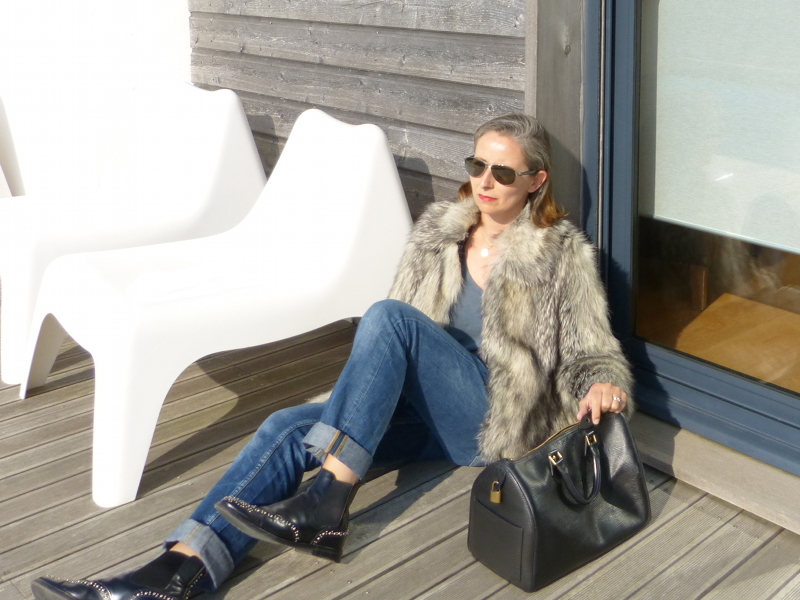 veste faux fur gris asos - speedy 30 cuir épi noir vuitton - boots church ketsby metal